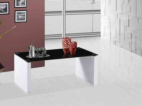 Rio Black and White Glass Coffee Table High Gloss Finish