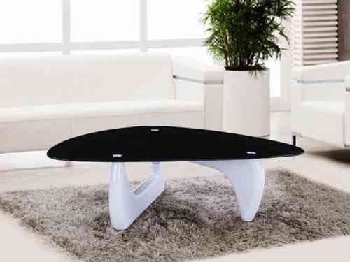 Black glass and White high gloss coffee table