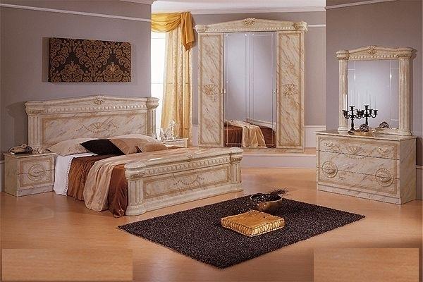 Italian high gloss marble bedroom furniture set - Italian High Gloss Marble Bedroom Furniture Set - Homegenies