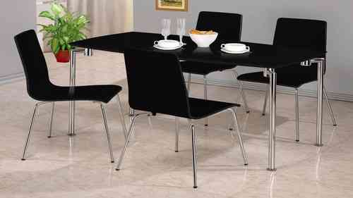 Small Black High Gloss Dining Set