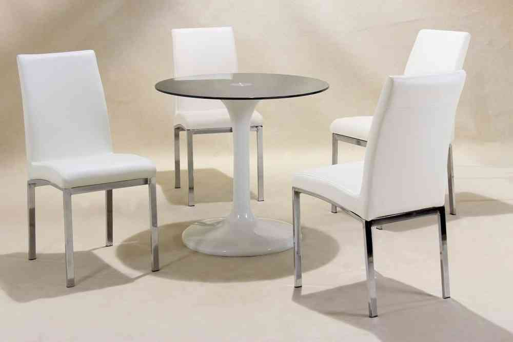 small glass dining table. Small Round White High Gloss Glass Dining Table And 4 Chairs Set