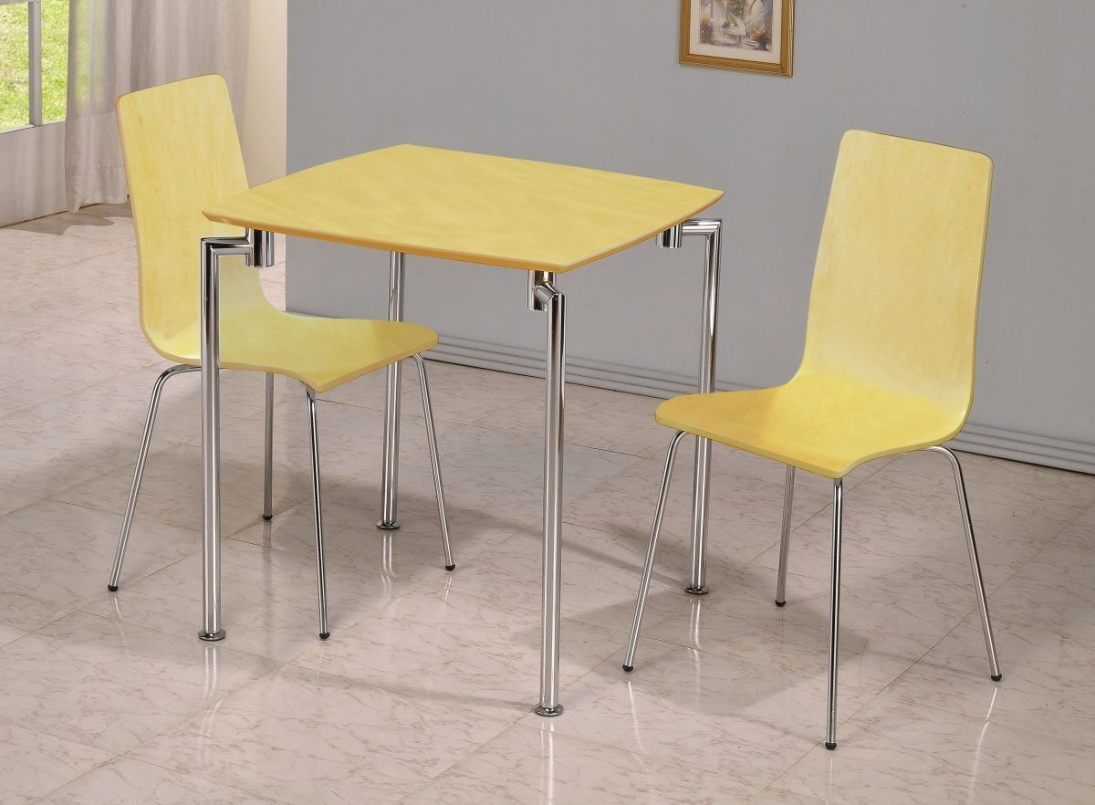 Small Beech Wooden Dining Table And 2 Chairs