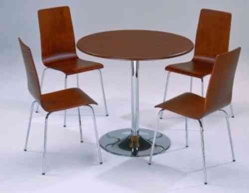 Small Round Wooden Dining Table and 4 Chairs set