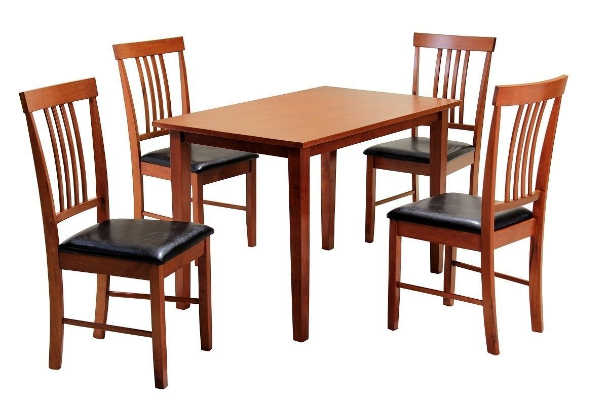 Mahogany Wooden Dining Table And 4 Chairs Homegenies