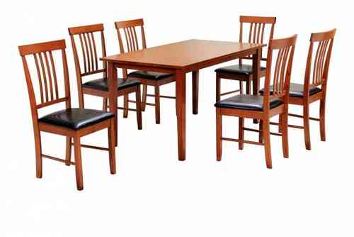 Mahogany Wooden Dining Table and 6 Chairs set