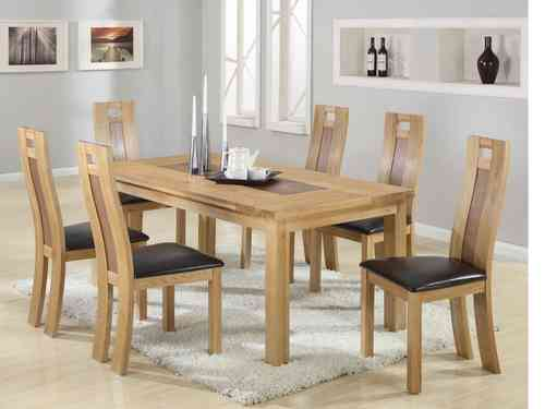 Solid Wooden Dining Table and 6 Chairs set