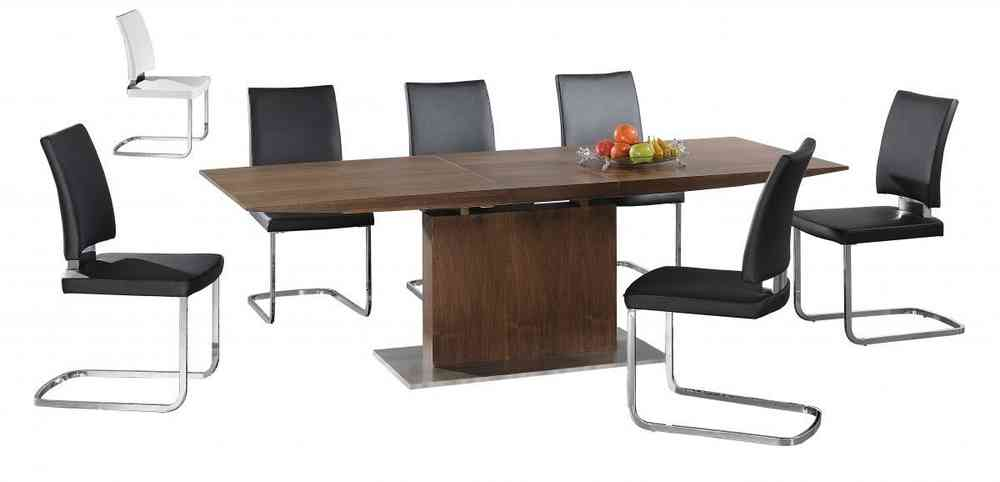 Extra large extending wooden dining table and 8 chairs Homegenies