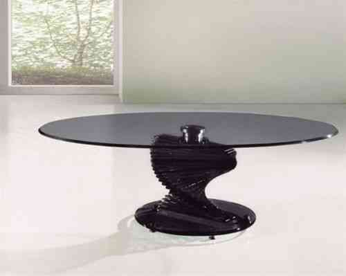 Twirl Smoked Glass Round Coffee Table