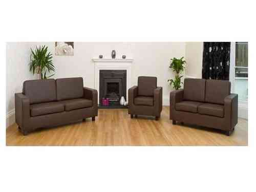 Faux leather sofa 1+2+3 seater sets brown, black, cream