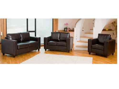 Leather sofa 1+2 and 3 seater set