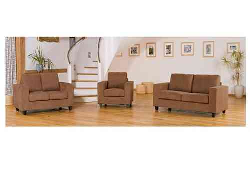 Faux suede sofa 1, 2 and 3 seater suites set
