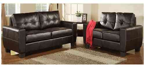 Modern 3+2 seater sofa suite leather black or brown