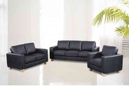Full Set 3+2+1 seater sofa suite faux leather