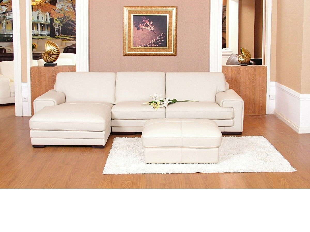 Chaise corner sofa leather mix cream black brown homegenies for Chaise corner sofas