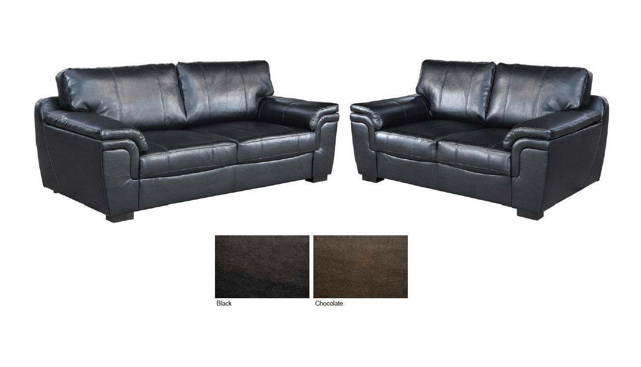 New 3 2 Seater Sofa Suite Brown Or Black Leather Homegenies