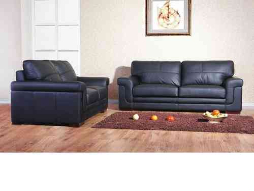 Leather 3+2+1 seater sofa suite mix cream black brown