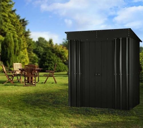 Anthracite Grey 6x4 metal garden shed