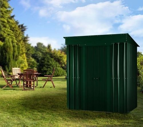 Heritage Green 5x3 Pent metal shed