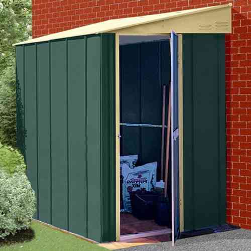 Pent Lean to 6 x 4ft Metal Garden Shed