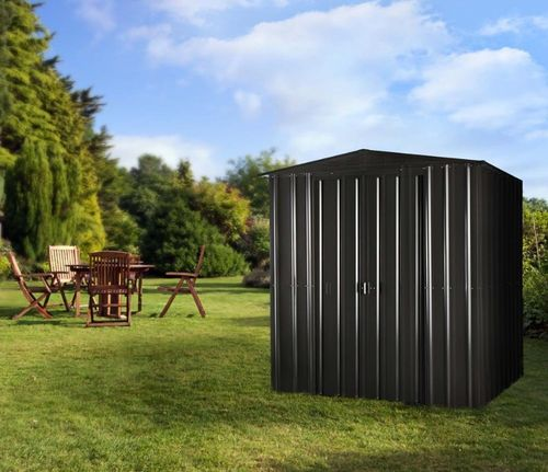 Anthracite Grey 6x4 metal shed