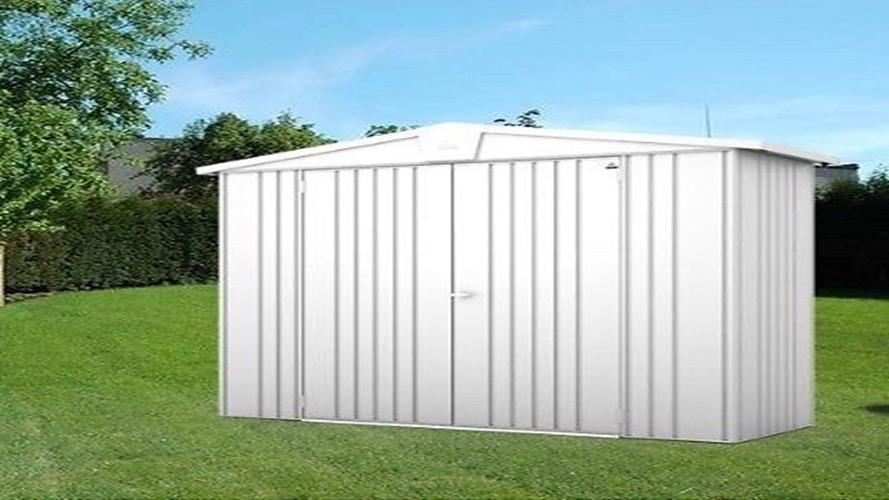 Apex heavy duty metal garden sheds 8 x 3ft homegenies for Apex garden sheds