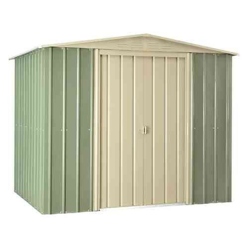 Metal Garden Shed 8 x 6ft Mist Green