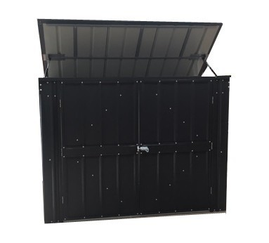 Anthracite Grey 5x3 bin storage metal shed