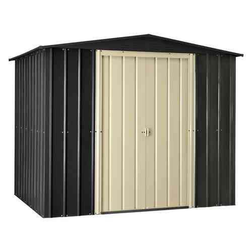 Metal Garden Shed 8 x 6ft Slate Grey and Cream