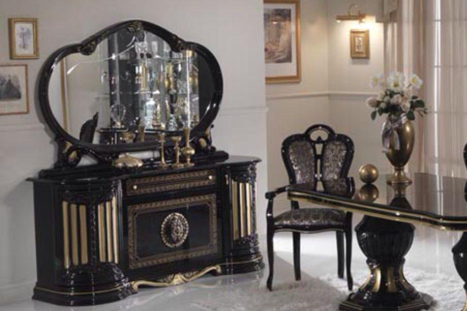 italian high gloss furniture. Gold \u0026 Black Italian Furniture Sets High Gloss Dining Table And Chairs