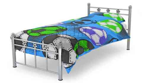 Single kids soccer metal classic bed frame