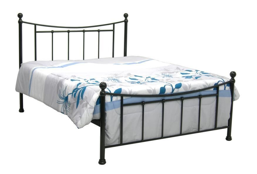 Dark Gun Ivory Metal Bed Frame Single Double King With Slats
