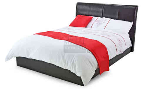 Faux leather bed in single, double, king, super