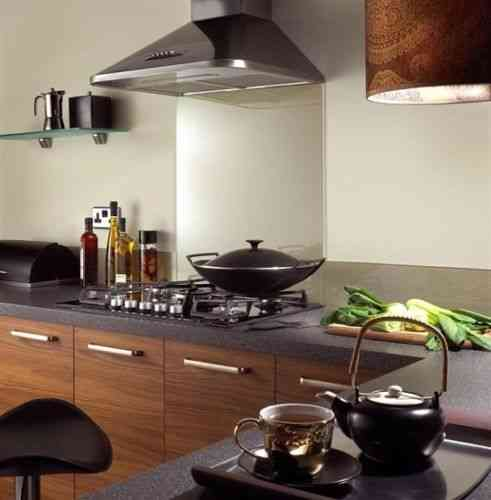 Cappuccino glass splashback