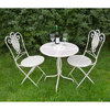 Cream Bistro metal garden table and chairs set