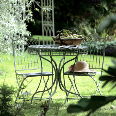Green Metal Bistro garden set