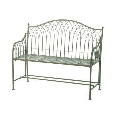 Super Green Vintage Metal Garden Bench Theyellowbook Wood Chair Design Ideas Theyellowbookinfo