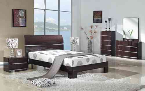 Cherry High Gloss Bedroom furniture set