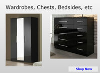 Bedroom Wardrobes, Chests of Drawers & Bedsides
