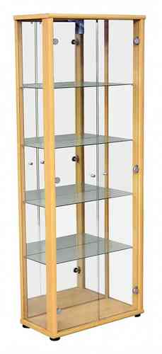 Beech Glass Dining Room Display Cabinet