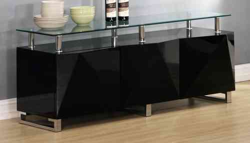 Large Black High Gloss Sideboard