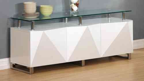 Large White High Gloss Sideboard