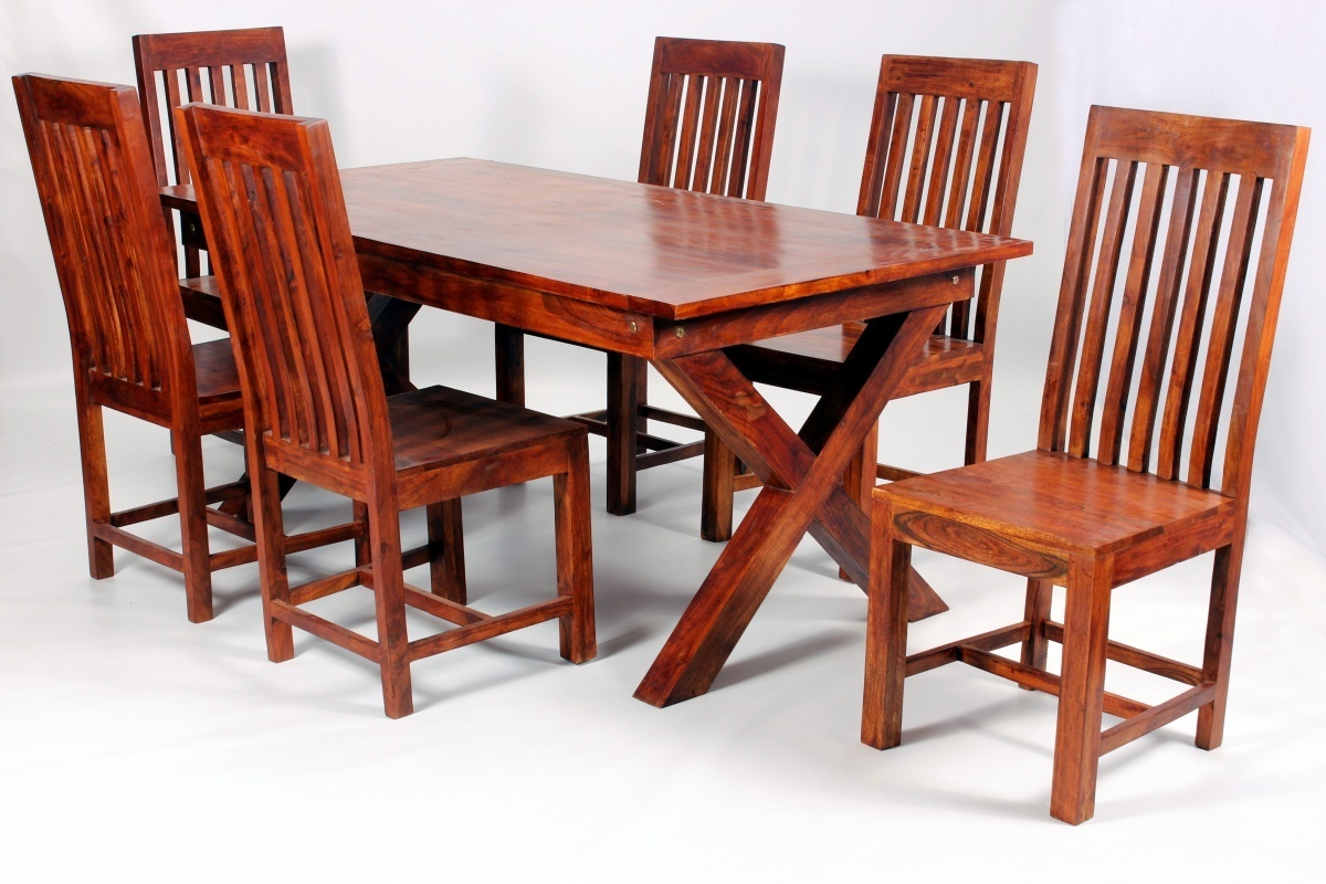 Solid Wooden Dining Room Furniture Antique Look Set