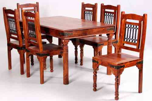 Deco Solid Acacia Rustic Dining Furniture set