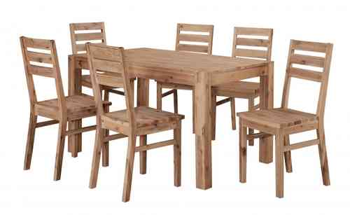 Brushed Sand Wooden Dining room Furniture set