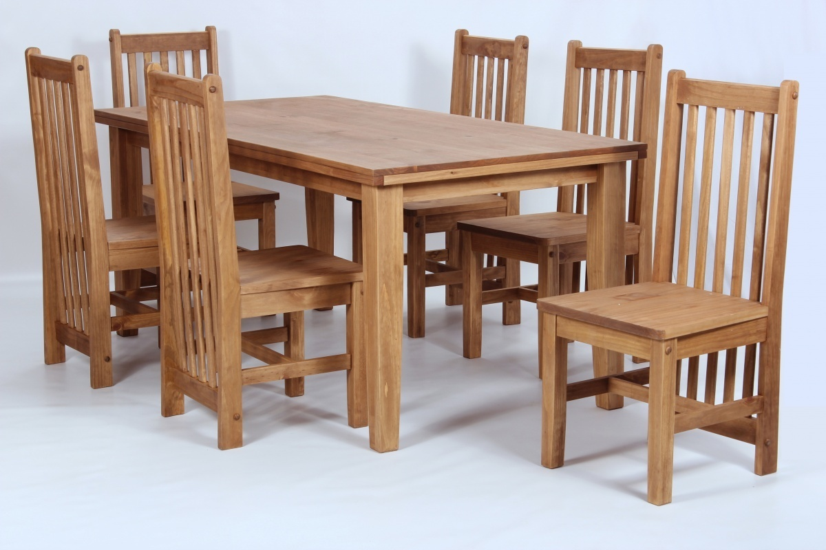 Pine dining room furniture sets homegenies for Pine dining room table