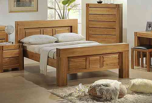 Bedroom furniture sets in high gloss or wood homegenies for Bedroom ideas oak furniture