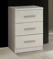 White High Gloss Bedside Drawers