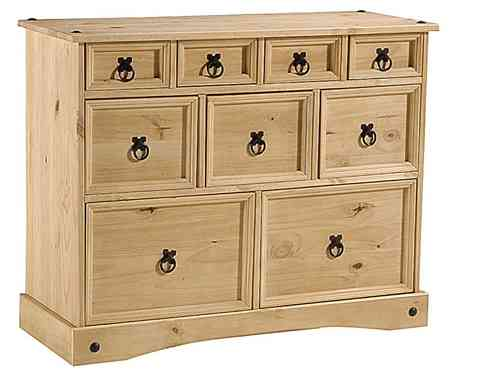 Bedroom Pine Bedsides and Chest of Drawers