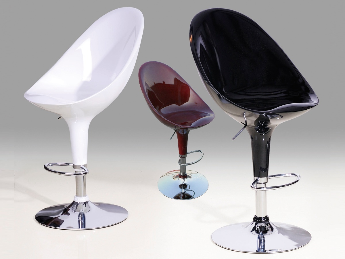 Large High Gloss Bar Stools For Kitchen Breakfast Homegenies