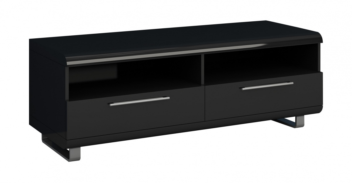 Black High Gloss Tv Unit For 50inch Tv Homegenies
